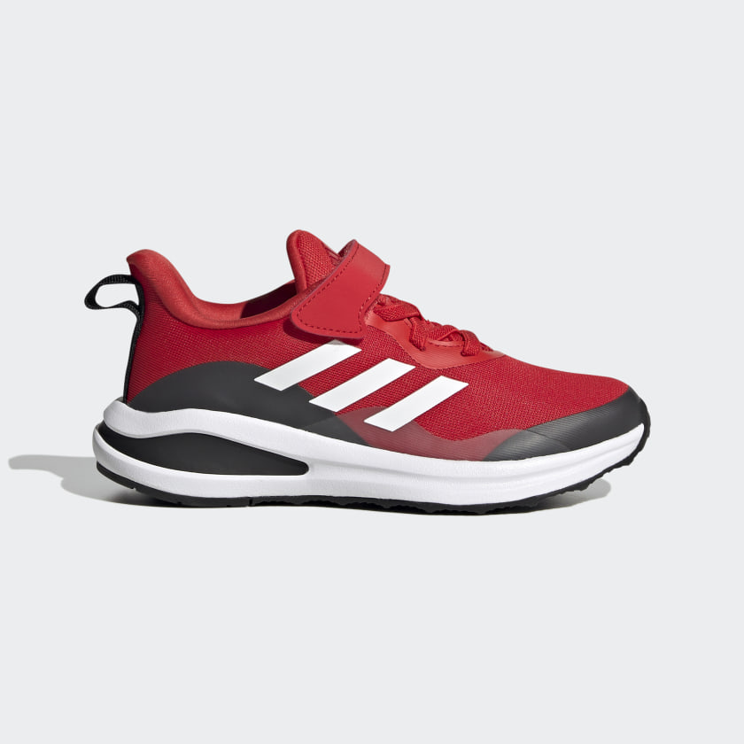 adidas FortaRun Elastic Lace Top Strap Running Shoes - Red | adidas US