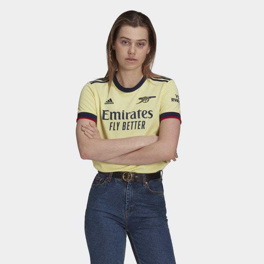 adidas Arsenal 21/22 Away Jersey - Yellow | adidas US