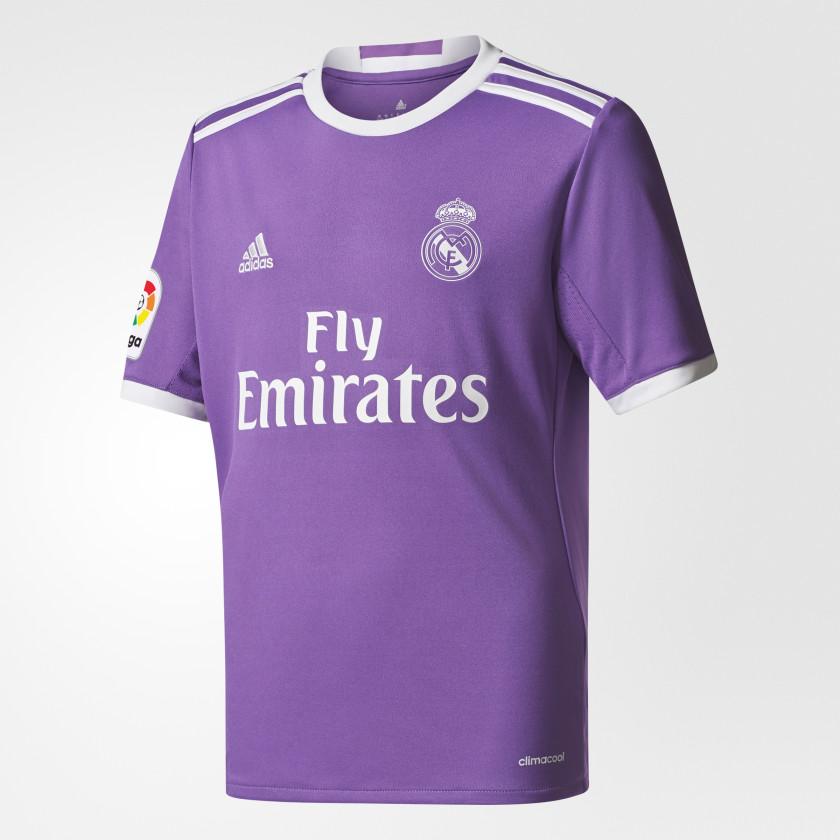 Adidas Youth Real Madrid Away Replica Jersey Purple Adidas Canada