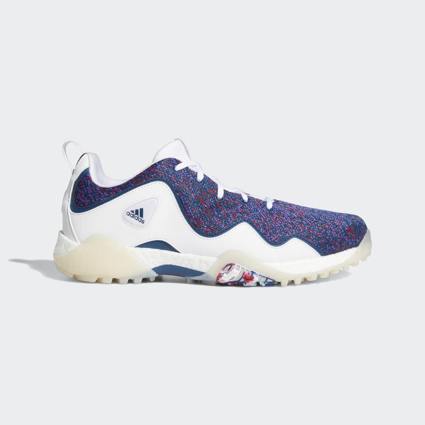adidas Codechaos 21 Primeblue Spikeless Golf Shoes - White   adidas US
