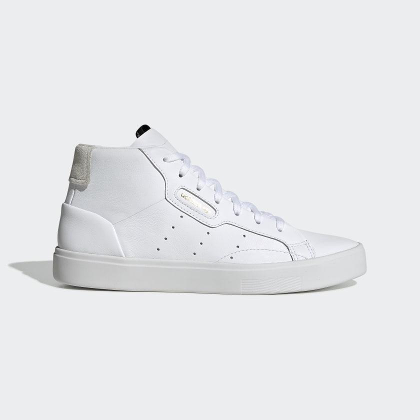 adidas Sleek Mid Shoes - White | adidas US
