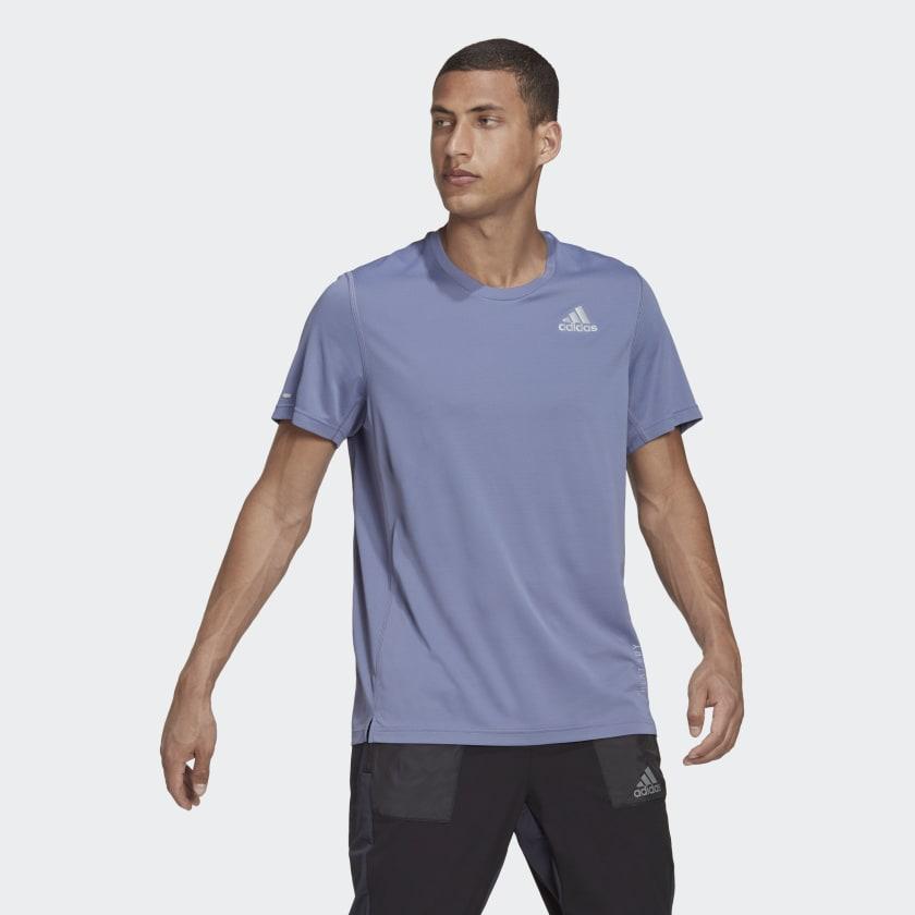adidas HEAT.RDY Running Tee - Purple   adidas US