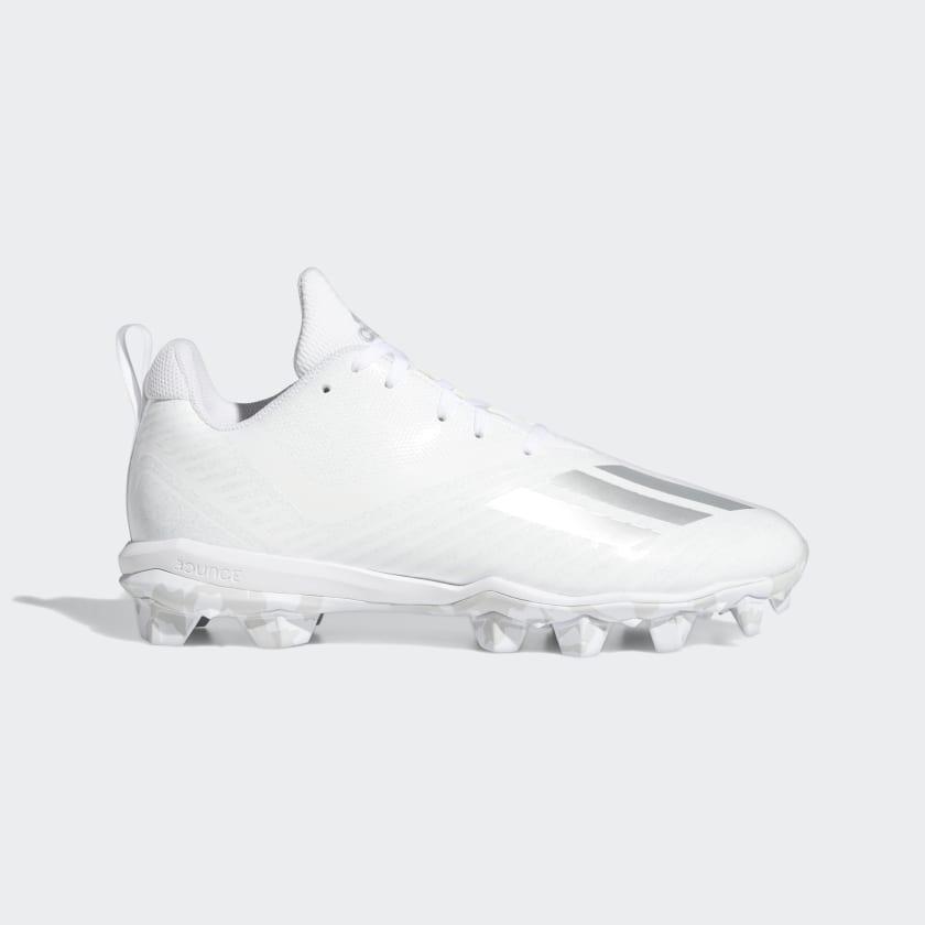 adidas Adizero MD Football Cleats - White | adidas US