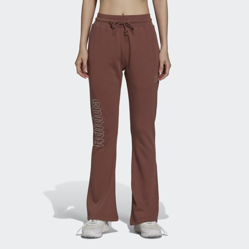 adidas 2000 Luxe Open Hem Track Pants - Brown | adidas US