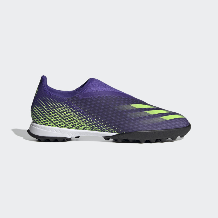X GHOSTED.3 LACELESS TF FUSSBALLSCHUH Energy Ink