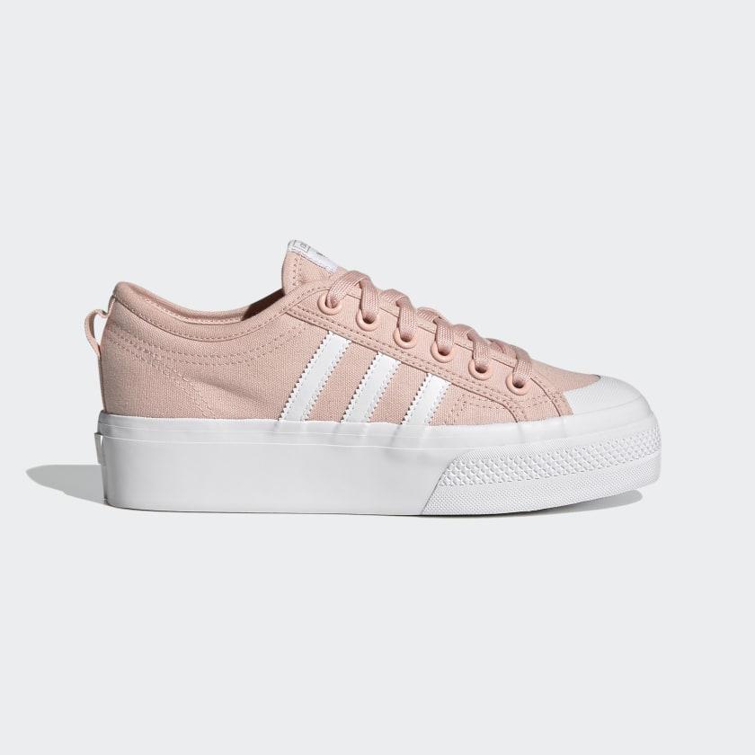 Chaussure Nizza Platform - Rose adidas | adidas France