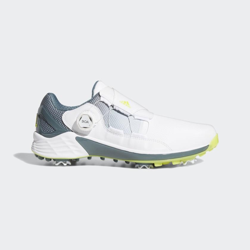 adidas ZG21 BOA Golf Shoes - White   adidas US