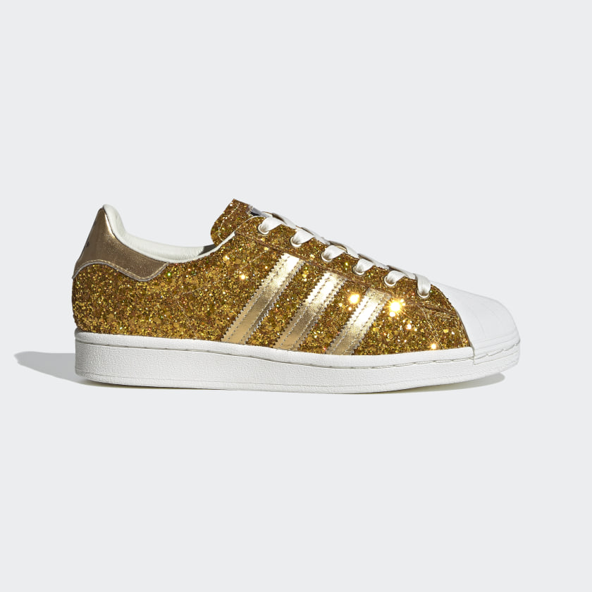 Women's Superstar Gold Metallic Glitter
