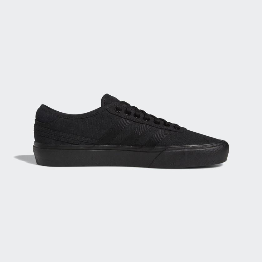 adidas black canvas shoes