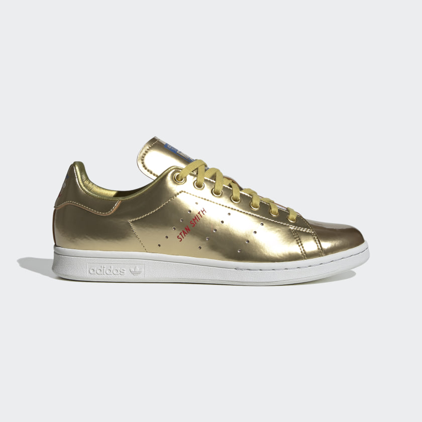 Stan Smith Gold Metallic and Crystal
