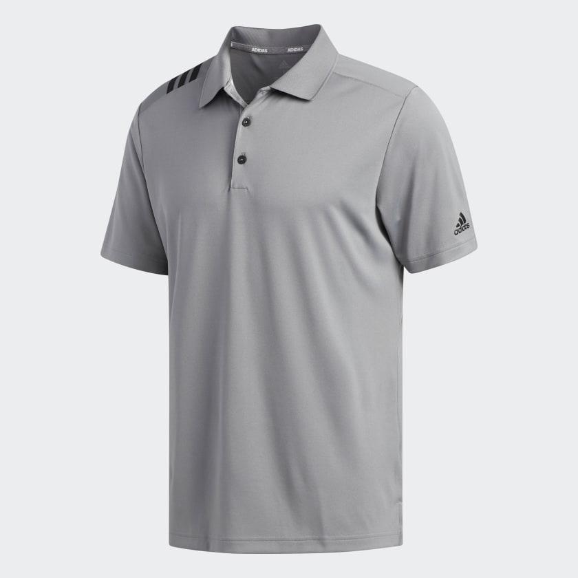 "Men/'s Adidas Polo Shirt Short Sleeve Grey Small 36//38/"" Loose Fit Cotton"