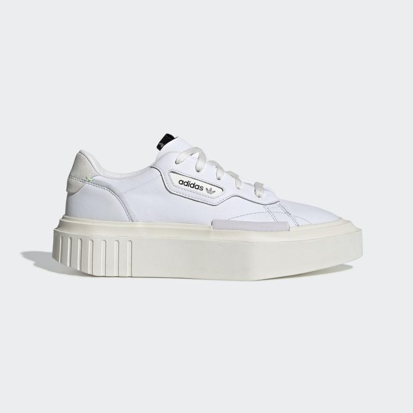 white platform adidas
