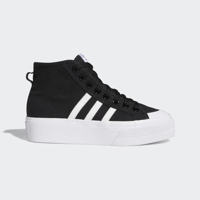 adidas Nizza Platform Mid Shoes - Black