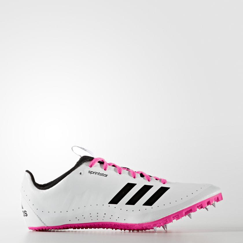 persona que practica jogging cadena Composición  adidas Sprintstar Spikes - White   adidas US