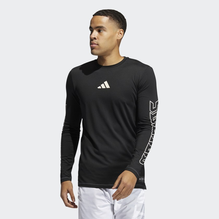 adidas Men's FB Hype Long Sleeve T-Shirt