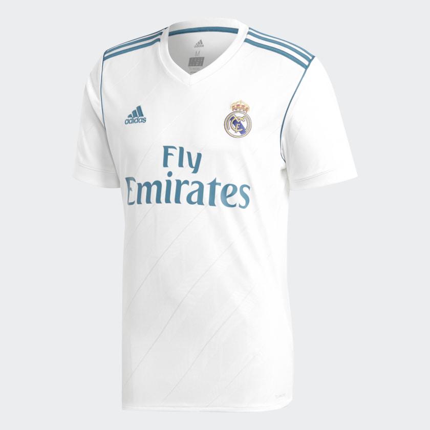 Camiseta De Futbol De Local Real Madrid Replica Blanco Adidas Adidas Peru