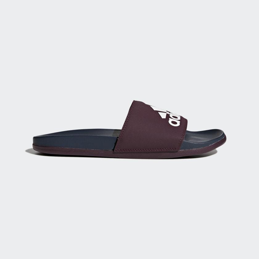 vestir Se asemeja Descarga  adidas Adilette Cloudfoam Plus Logo Slides - Red | adidas US