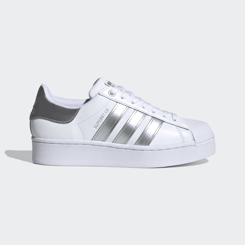 superstar bold womens originals white and silver