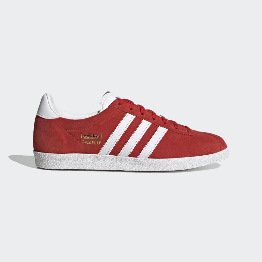 adidas Gazelle OG Shoes - Red | adidas UK