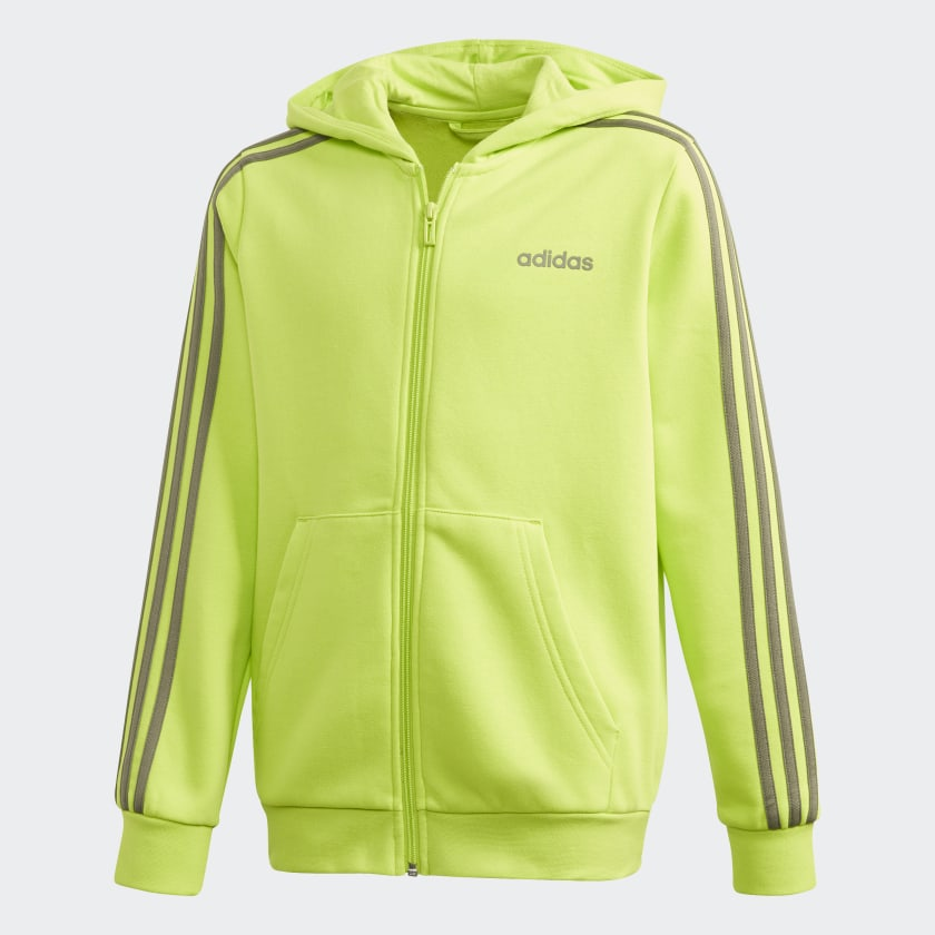 adidas Essentials 3 Stripes hettejakke Svart | adidas Norway
