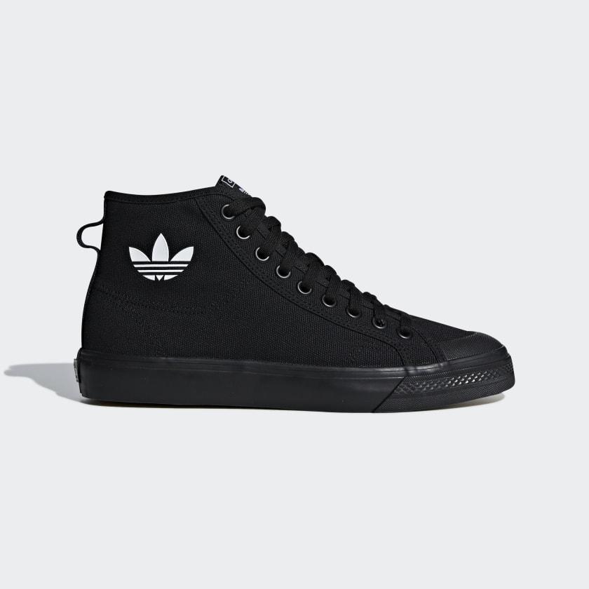 Rama álbum Hacer la cena  adidas Nizza High Top Shoes - Black | adidas US