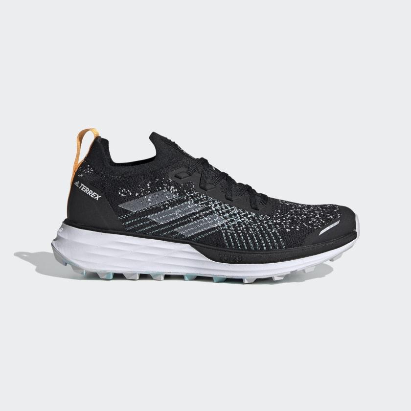 Sobrio seriamente Prohibición  adidas Women's Terrex Two Parley Trail Running Shoes in Black and Grey |  adidas UK