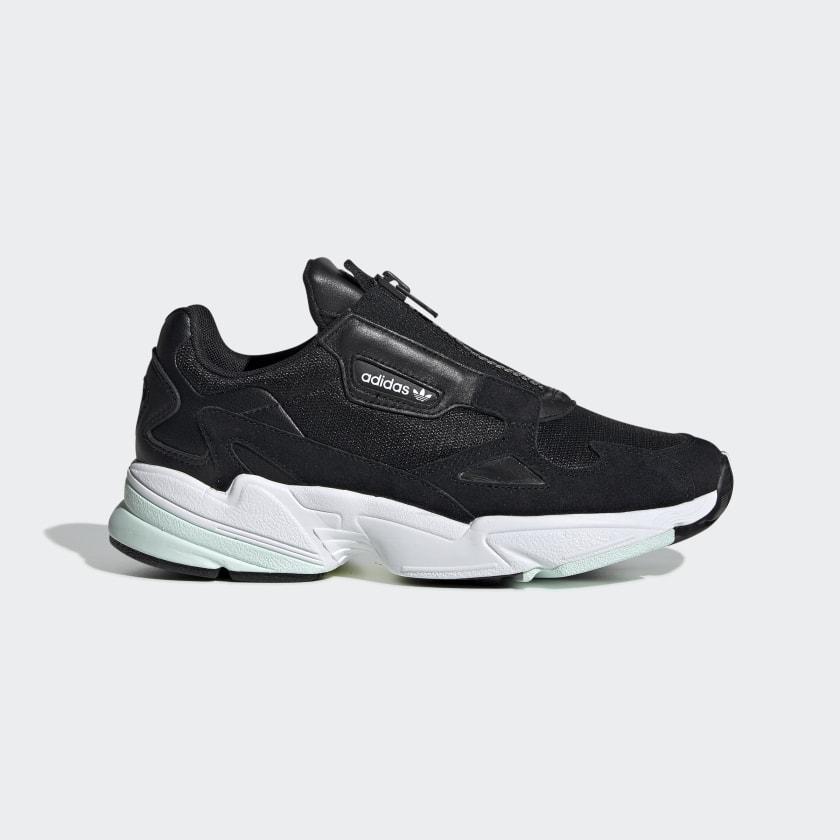 adidas Falcon Zip Shoes - Black | adidas US