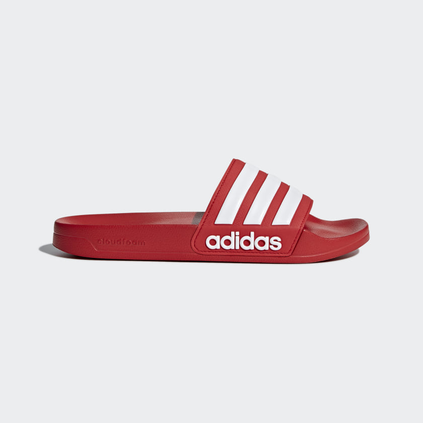 Men's adilette Red and White Cloudfoam