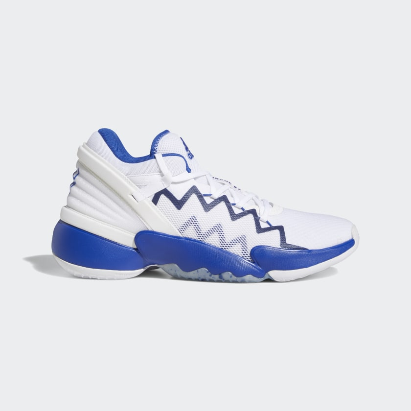 blue and white shoes