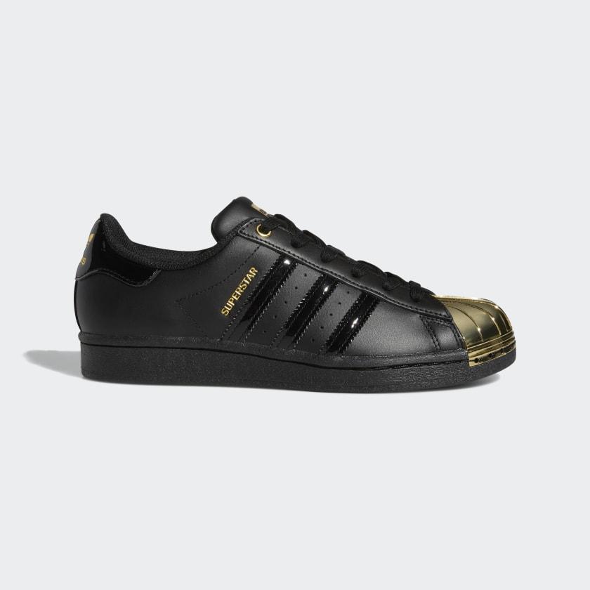 cuello Camello áspero  adidas Superstar Metal Toe Shoes - Black | adidas US