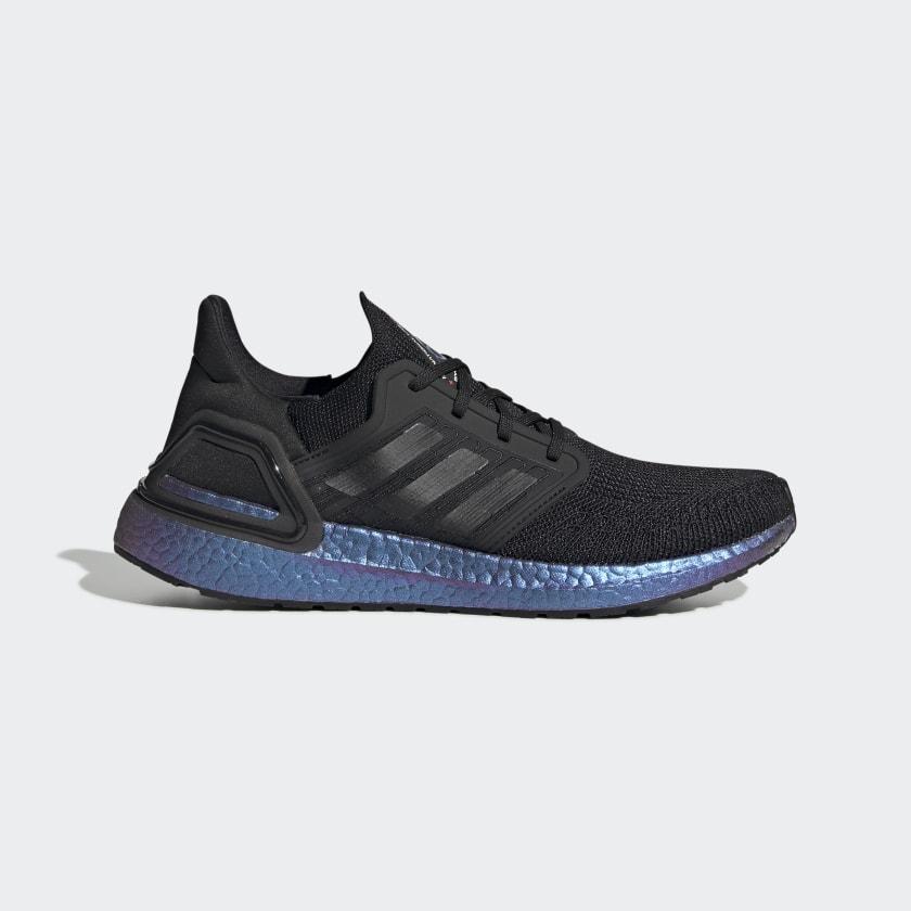 tugurio Mar historia  Men's Ultraboost 20 Core Black and Blue Violet Shoes | adidas US