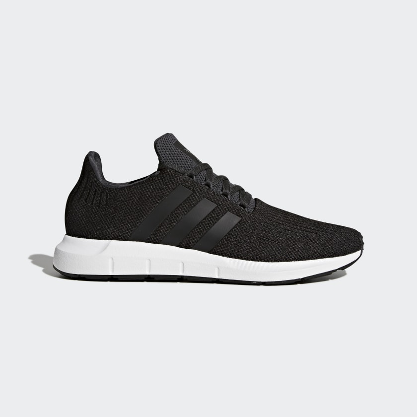 adidas all black running shoes