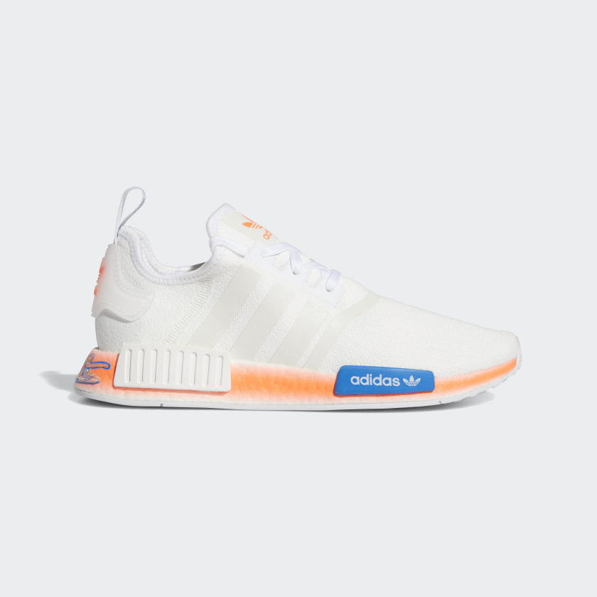 NMD R1 Cloud White and Orange Shoes