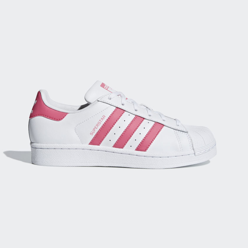 lector Acostumbrarse a Deshabilitar  Kids Superstar Cloud White and Real Pink Shoes | adidas US