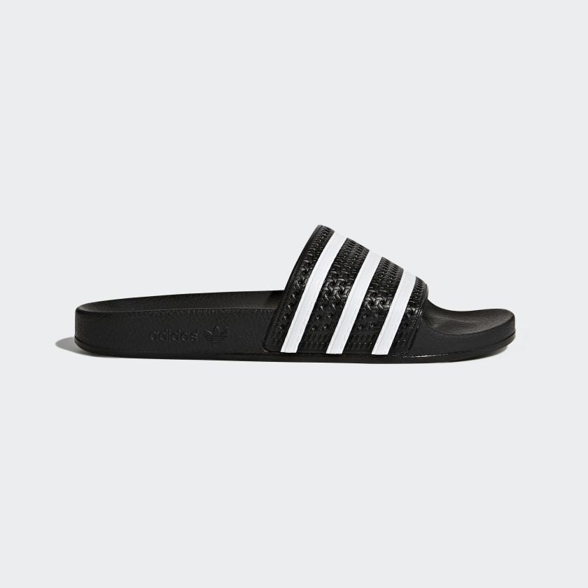 adidas adilette Slides - Black   adidas