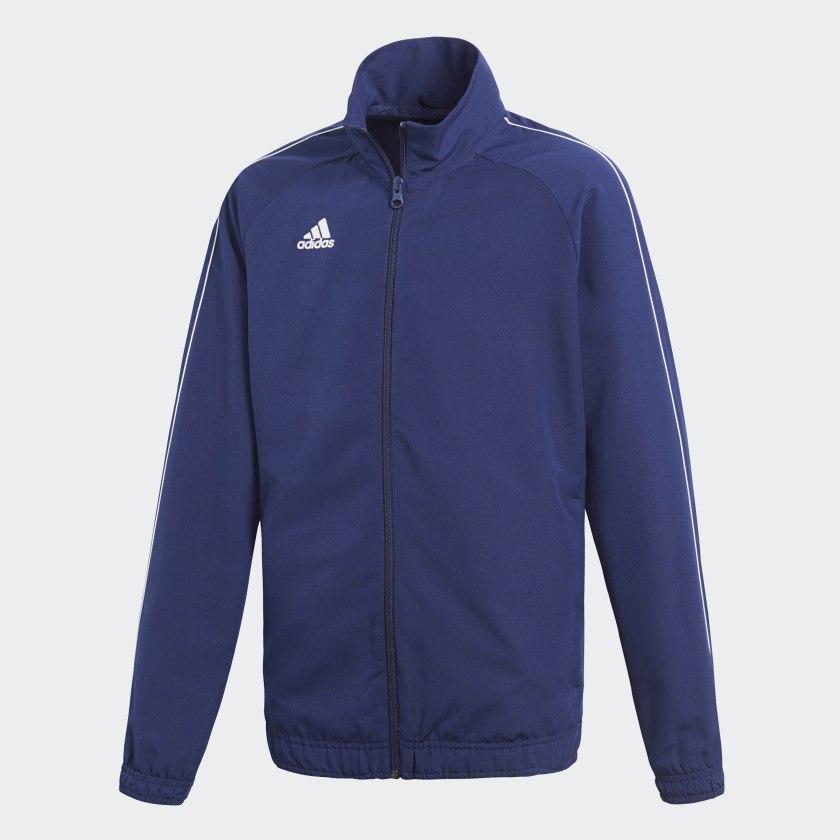 adidas Core 18 Trainingsjacke Kinder blau weiß 164