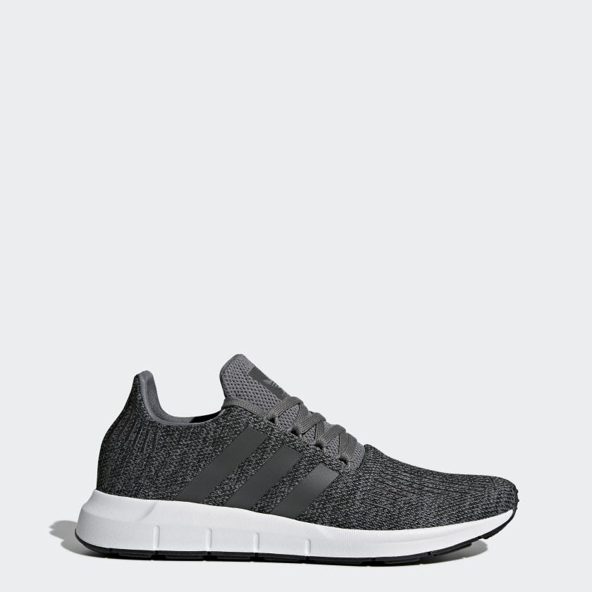 Men's Swift Run Grey and Core Black