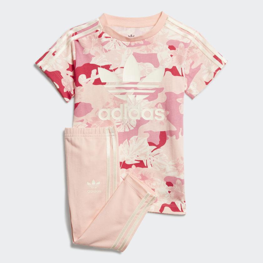 adidas T-Shirt-Kleid-Set - Weiß   adidas Deutschland