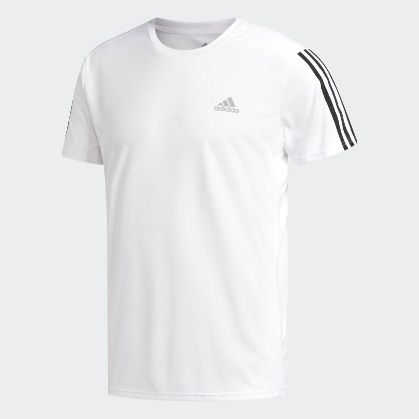 Descodificar blanco lechoso Aliado  Camiseta de running 3 bandas blanca y negra para hombre | adidas España