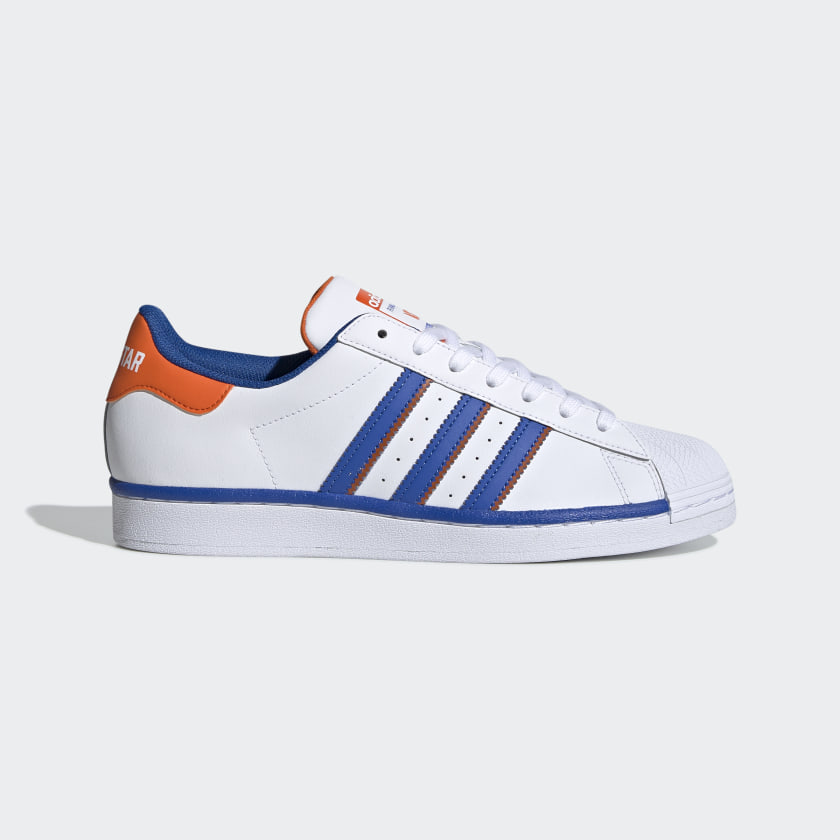 recomendar Existencia tabaco  Superstar White, Blue & Orange Starting Five Shoes | adidas US