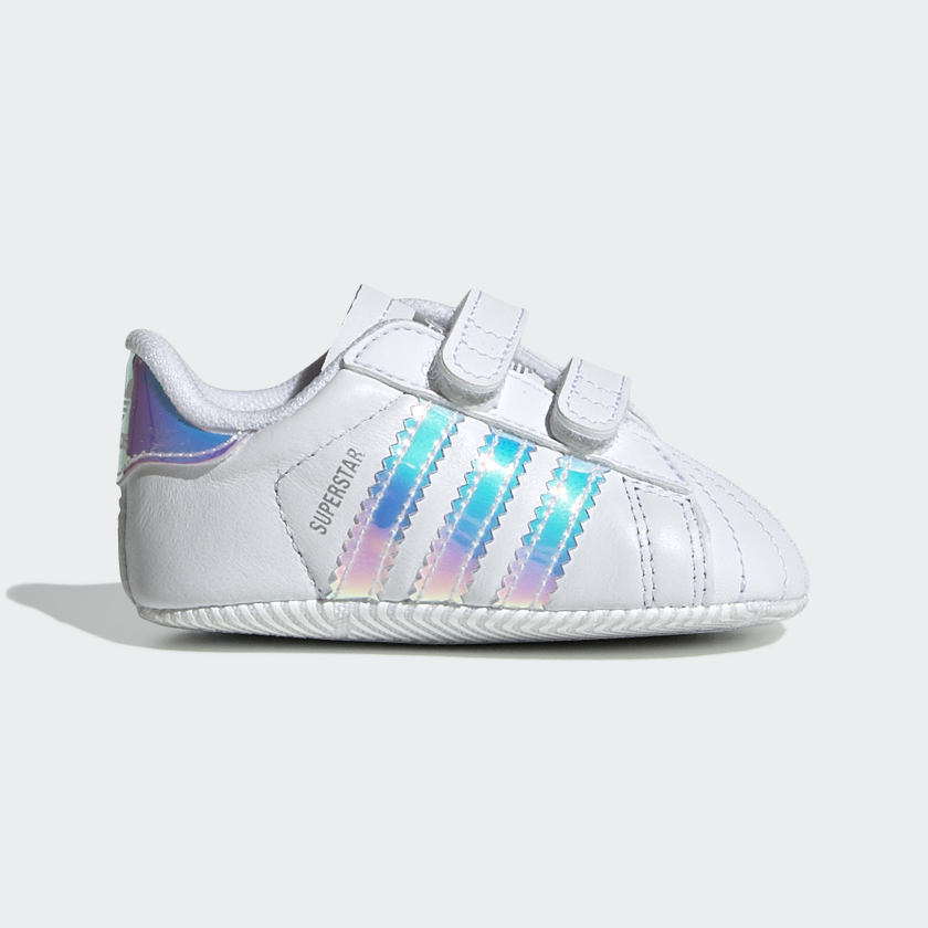Subir y bajar chico un poco  Baby Superstar Cloud White Iridescent Shoes | adidas US