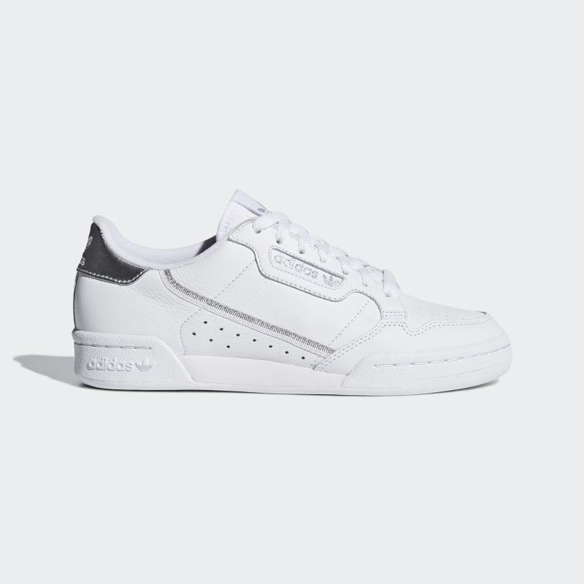 tierra Deber Una oración  Women's White & Silver Continental 80 Shoes | adidas US