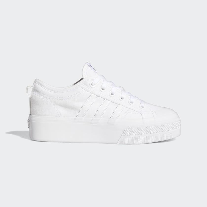 all white platform shoes