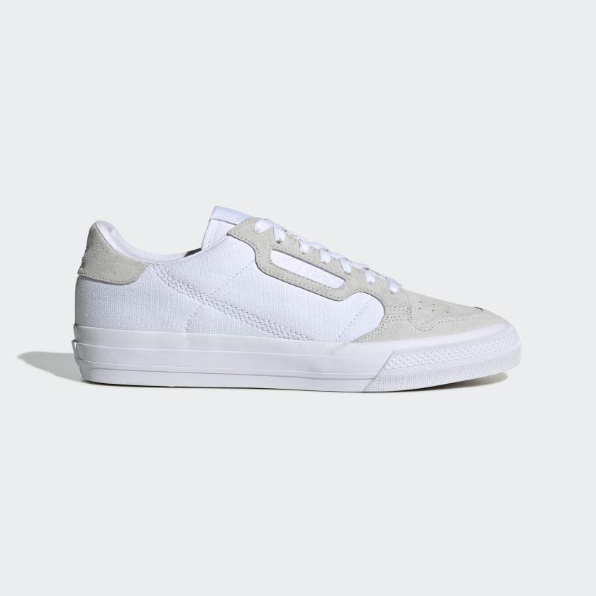 adidas Continental Vulc Shoes - White | adidas US