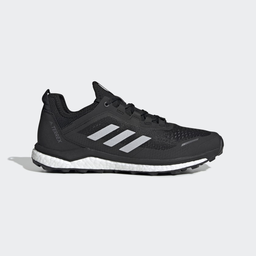 adidas Mens Terrex Agravic Flow Running Shoes Trainers Black Sports