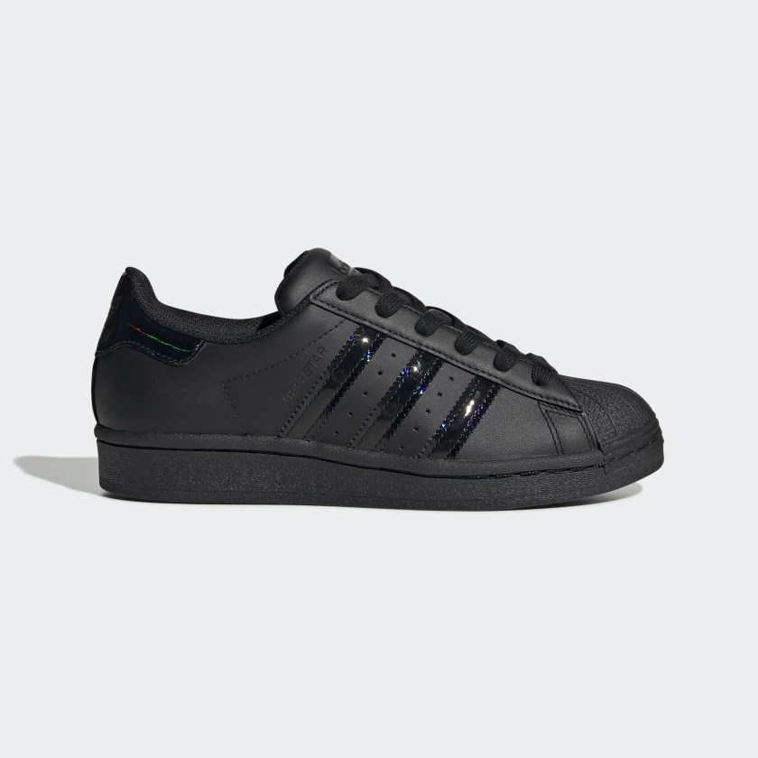 Kids Superstar All Black Iridescent Shoes Adidas Us