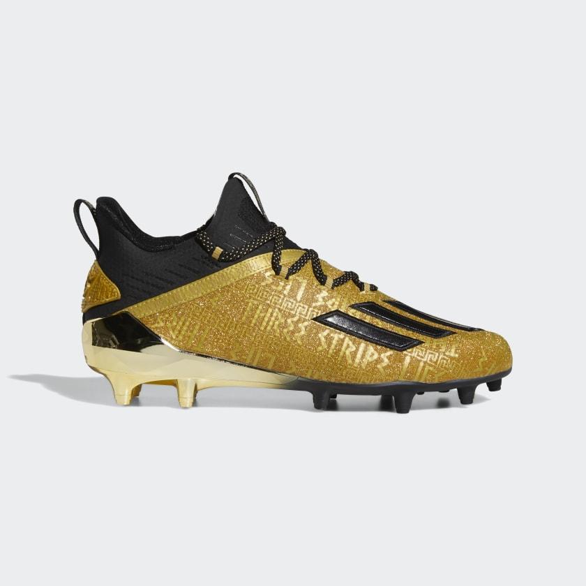 adidas Adizero New Reign Cleats - Gold