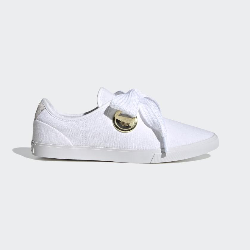 white adidas sleek