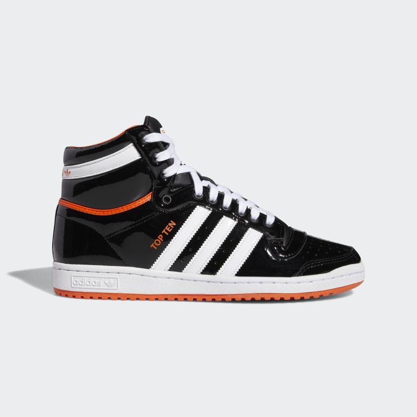 una vez Golpeteo Verdulero  adidas Top Ten Hi Shoes - Black | adidas US