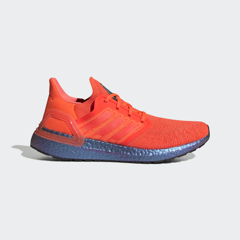 Ultraboost 20 Solar Red and Blue Violet